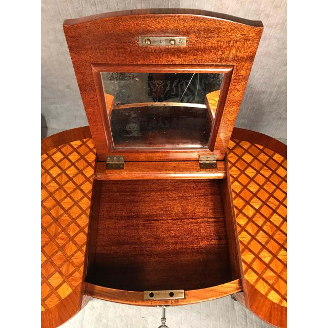 Wood 19th Century French Louis XVI Style Vanity For Sale - Image 7 of 12