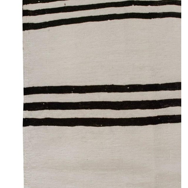 """Islamic Early 20th Century Gabbeh Kilim Runner - 34"""" x 152"""" For Sale - Image 3 of 4"""