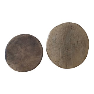 Rustic Wood Charcuterie Cheese Boards - Set of 2 For Sale
