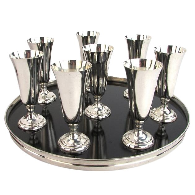 Sterling Silver Drink Set - Set of 8 - Image 1 of 5