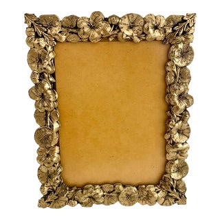 Small Gold Floral Standing Frame For Sale