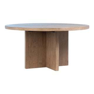 Recycled Pine Round Dining Table For Sale