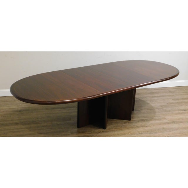 Danish Modern Danish Modern Oval Teak Expandable Dining Table by Ansagar Mobler For Sale - Image 3 of 13