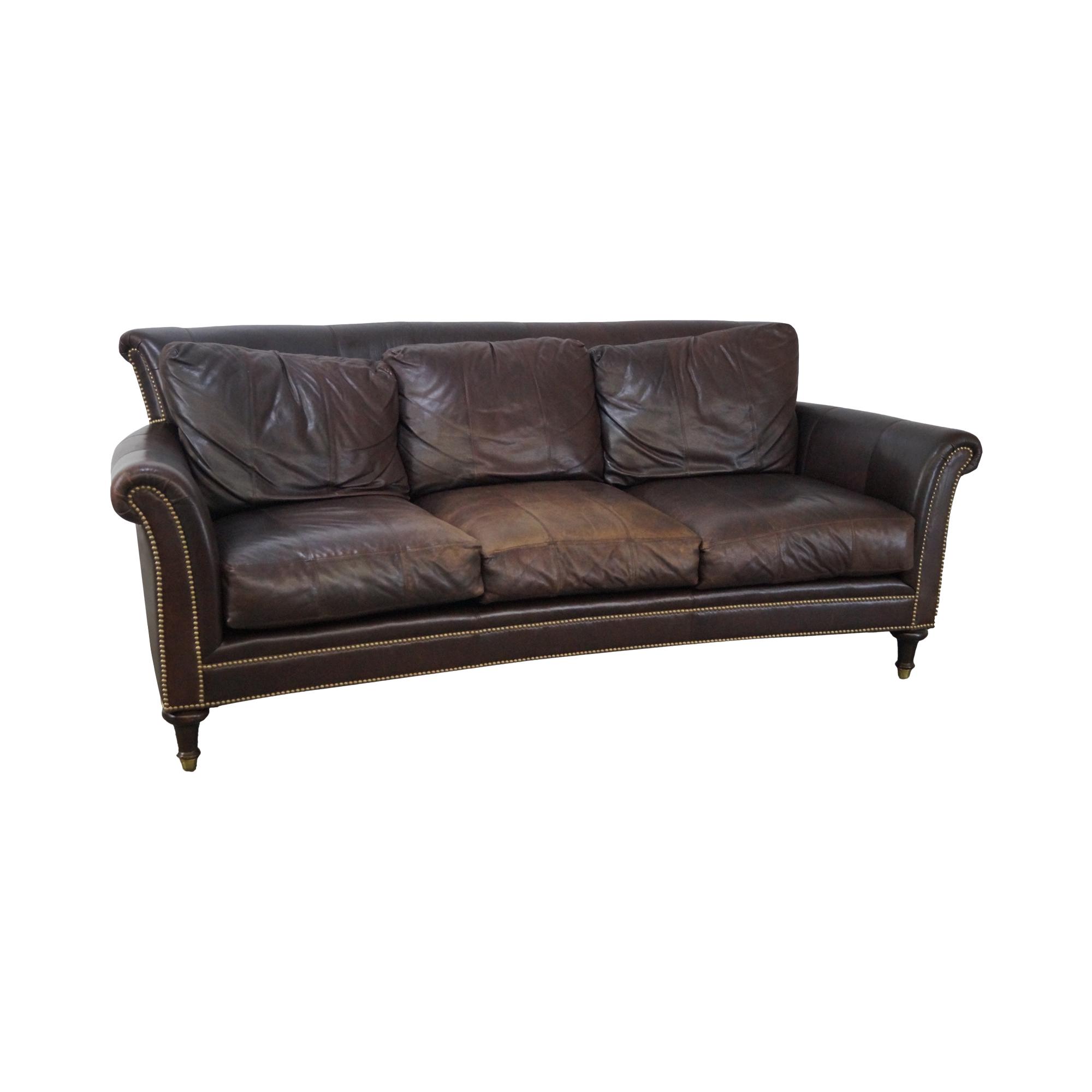 Superieur Ferguson Copeland Surrey Brown Leather Sofa