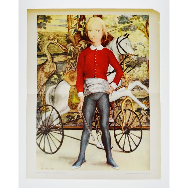 """Vintage Mid-Century print titled """"Little Cavalier"""" by Tsuguharu Foujita. Condition consistent with age and history. Please..."""