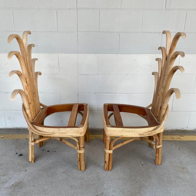 2020s Palm Frond Dining Chairs - a Pair For Sale - Image 5 of 10