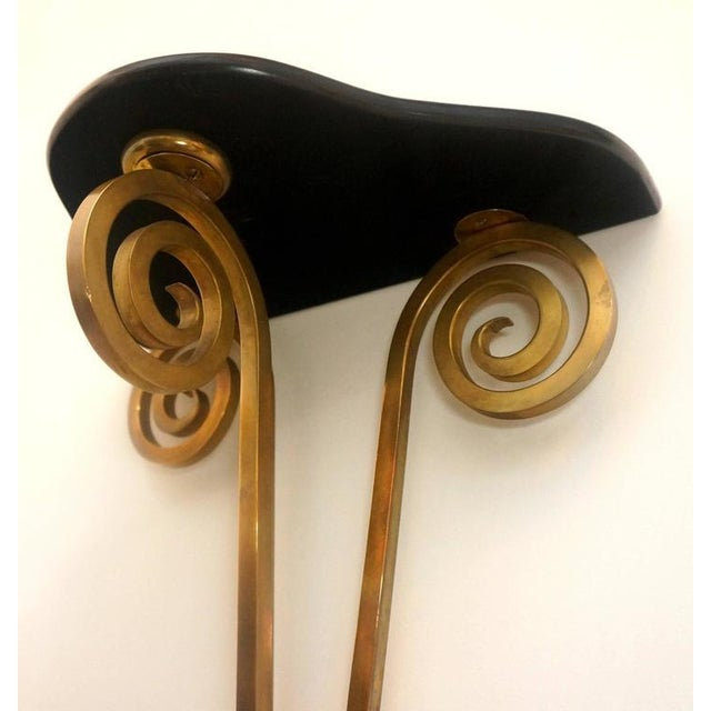 1950s Hollywood Regency, Bronze Wall Brackets Attributed to Maison Jansen - a Pair For Sale - Image 5 of 7
