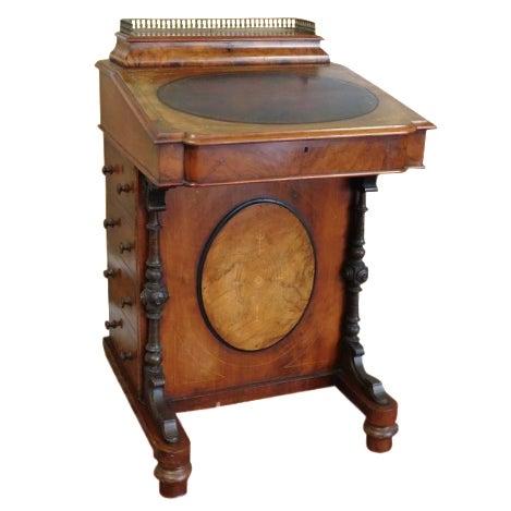 Victorian English Burl Walnut Davenport Desk - Image 1 of 9