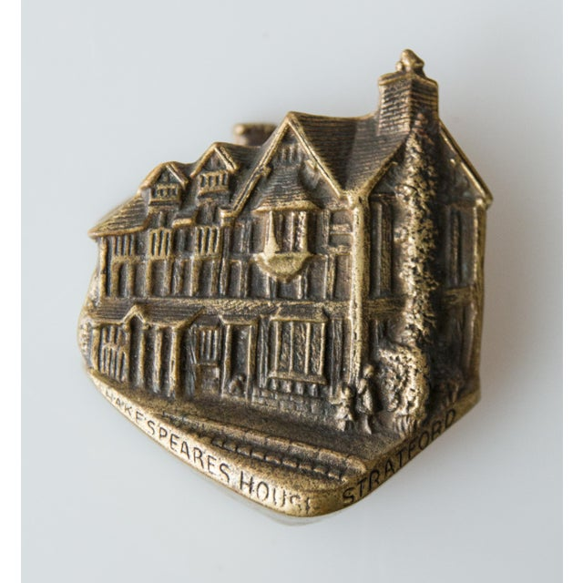 Metal English Brass Shakespeare's House Door Knocker For Sale - Image 7 of 7