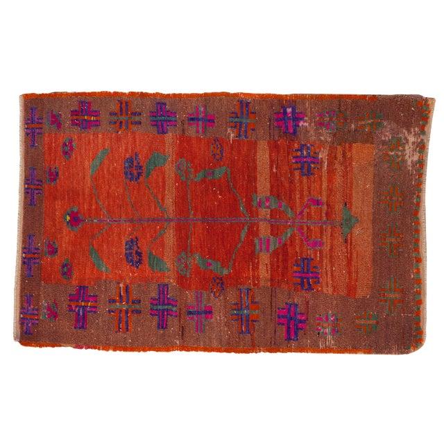 """Vintage Distressed Oushak Rug - 2'4"""" X 3'7"""" For Sale"""