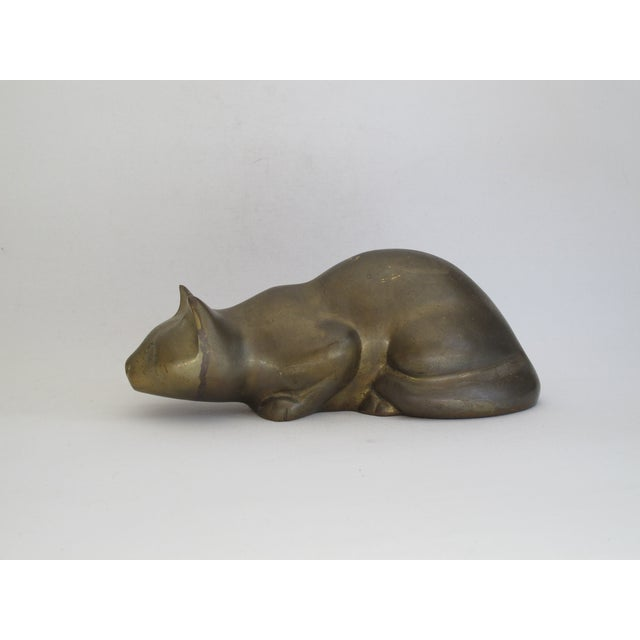 Perched Brass Cat - Image 3 of 8