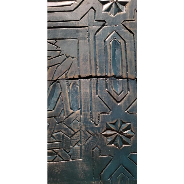 """Single Moroccan wooden panel measuring approximately 80"""" in height and 42.5"""" in width. and made with reclaimed wood...."""