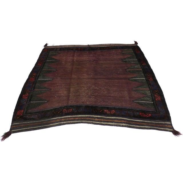 "Vintage Afghan Saddle Bag - 4'3"" x 4'8"" - Image 2 of 5"