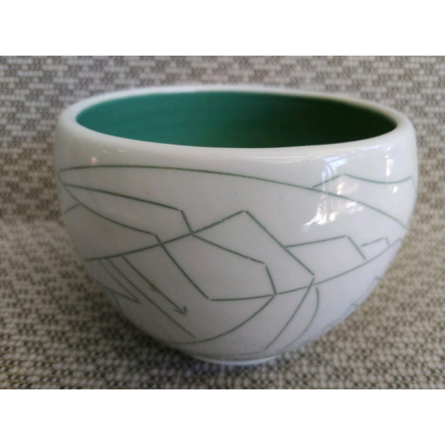 Daric Harvie Art Deco Cubist Style Bowl For Sale - Image 4 of 9