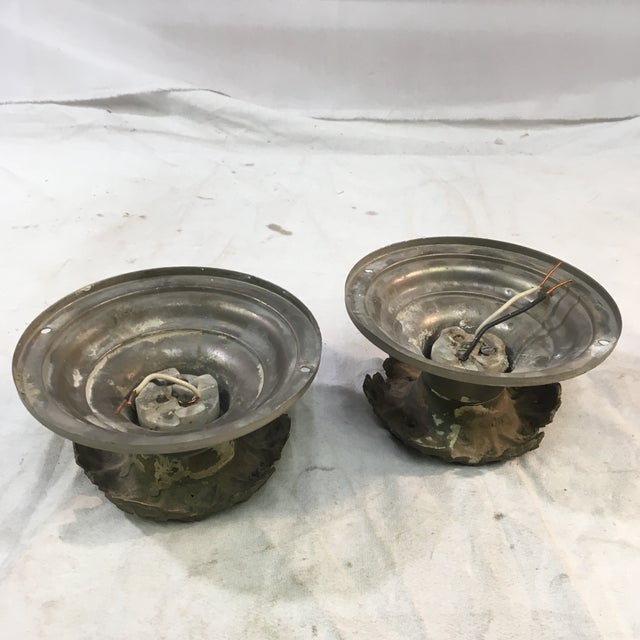 1920s Art Deco Neoclassical Single Bulb Flush Mounts - a Pair For Sale In Washington DC - Image 6 of 9