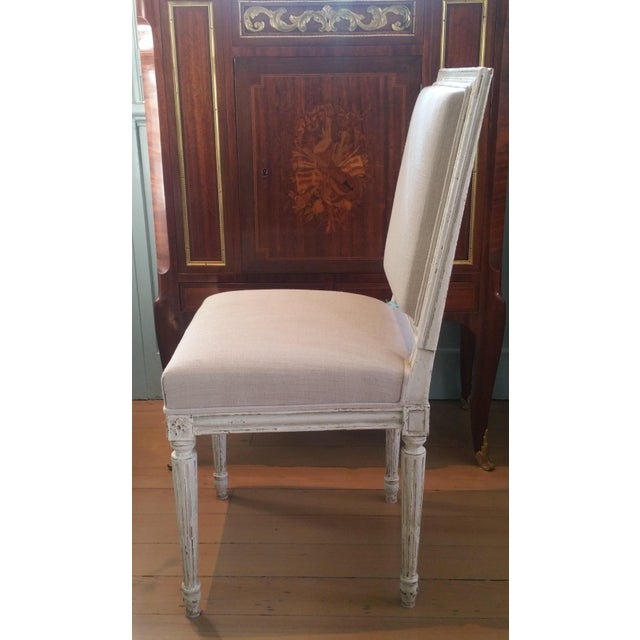 Textile Set of 10 Louis XVI Style Dining Chairs For Sale - Image 7 of 8