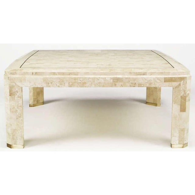 Fine Tessellated Fossil Stone Brass Inlaid Coffee Table Spiritservingveterans Wood Chair Design Ideas Spiritservingveteransorg