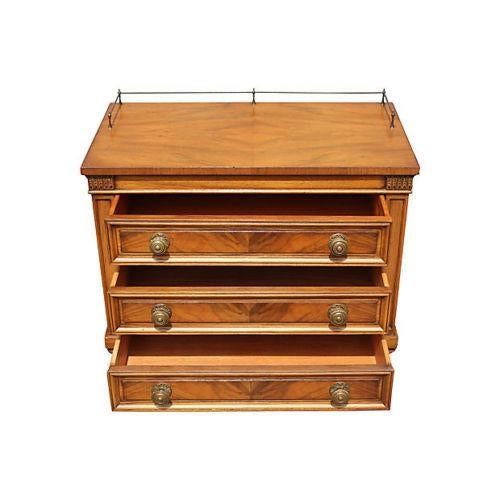 1960's Neoclassical Style Nightstands - A Pair - Image 6 of 8