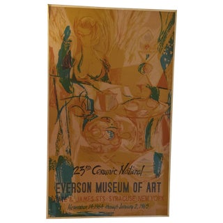 Mid-Century 1964 Eversom Museum of Art Poster