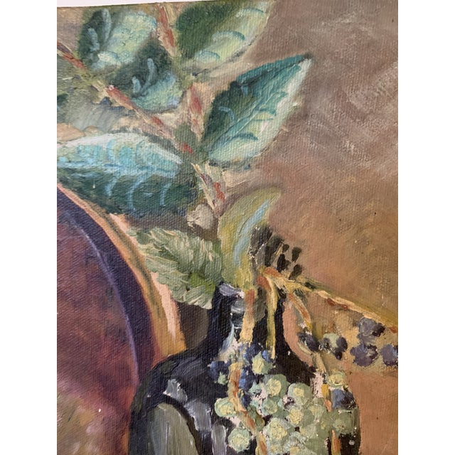 "1948 ""Oregon Grapes"" Still Life Painting by Bert Lobberegt For Sale In Seattle - Image 6 of 7"