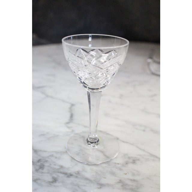 Mid 20th Century Mid 20th Century Cut Glass Liquor Cordials - Set of 6 For Sale - Image 5 of 7