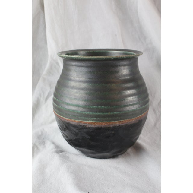 Vintage Textured Ceramic Cachepot For Sale In New York - Image 6 of 6