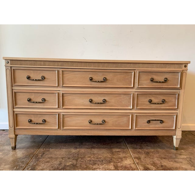 Brown 1940's American Made Mahogany Dresser For Sale - Image 8 of 8