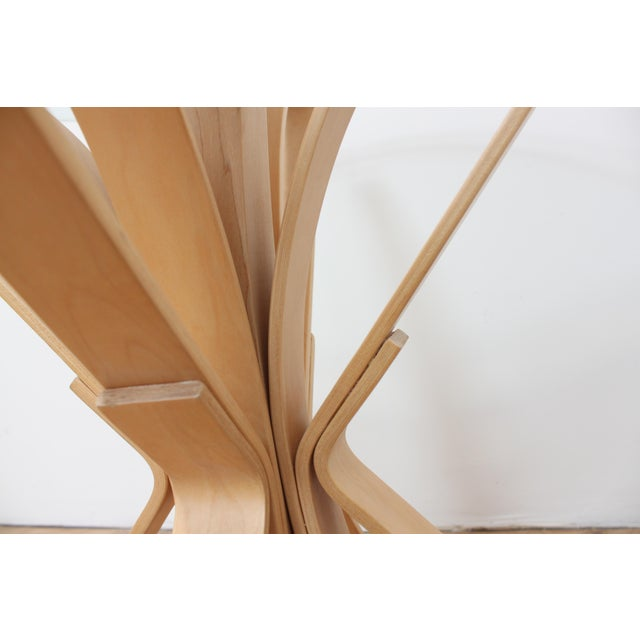 1992 Frank Gehry Face Off Table for Knoll- Maple and Glass For Sale In San Francisco - Image 6 of 9