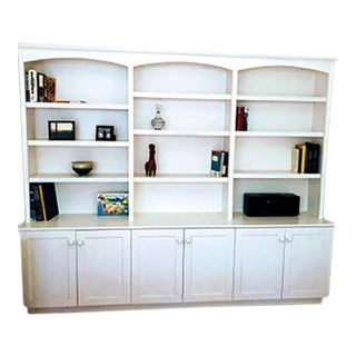 Cottage Style Painted Wall Unit Bookcase For Sale