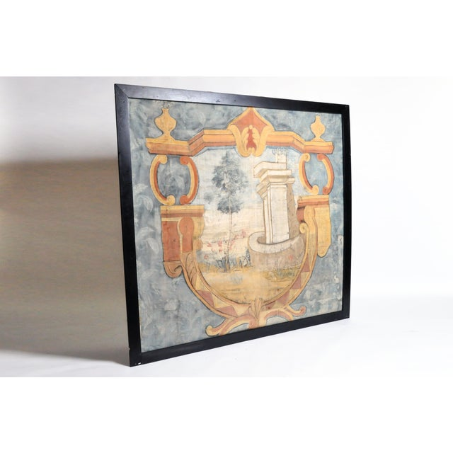 French 18th Century French Chateau Banner For Sale - Image 3 of 13