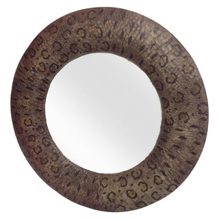 Python Pattern Leather Wrapped Mirror