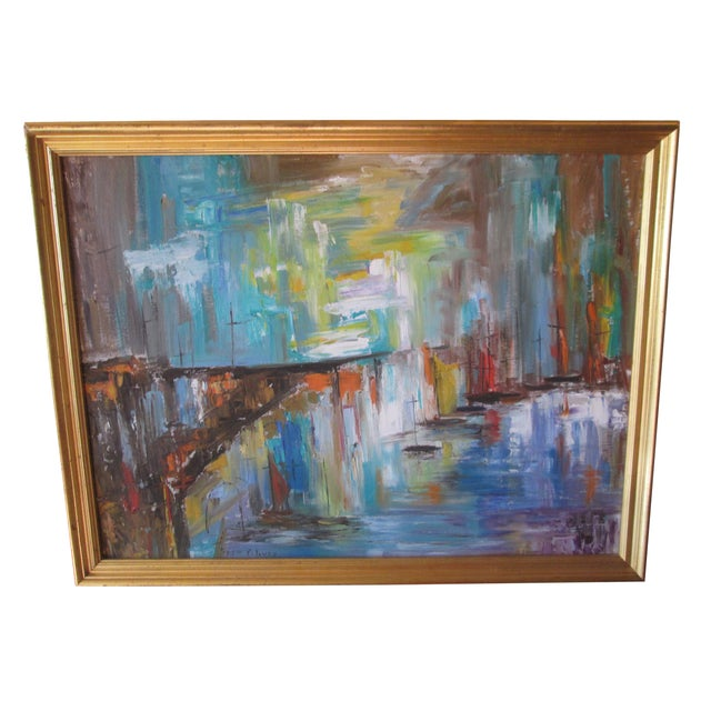 Fran Oliver Modern Seascape Painting For Sale