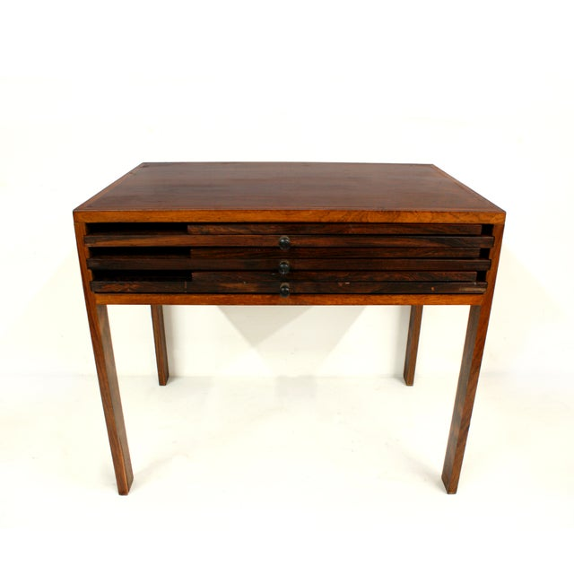 Rosewood Illum Wikkelso Danish Folding Tables Set - Image 2 of 5