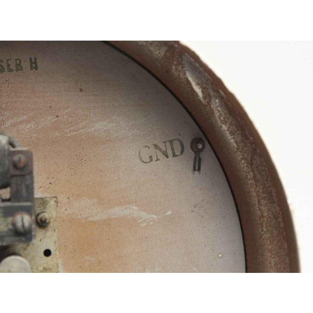 Metal Vintage Painted Telechron Clock For Sale - Image 7 of 8