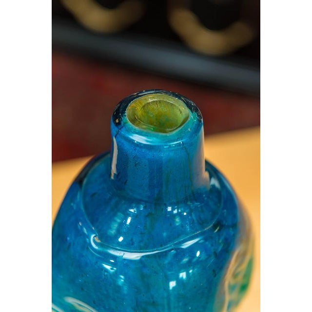 Art Glass Mdina Glass Textured Vase For Sale - Image 7 of 7