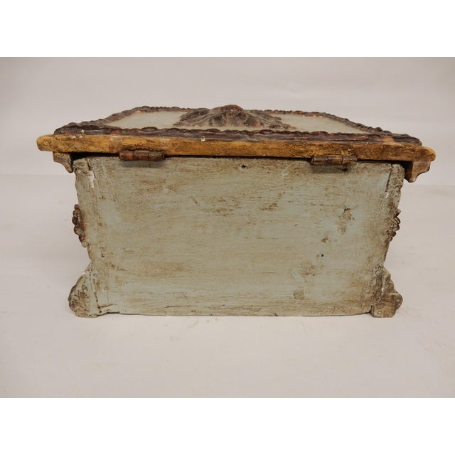 19th Century 19th C. Italian Painted Box For Sale - Image 5 of 6