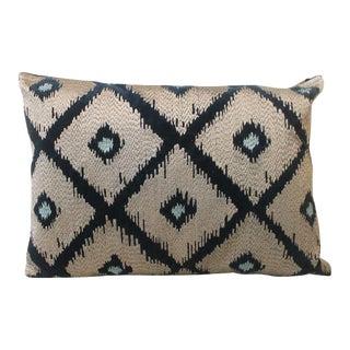 Blue Embroidery Velvet Pillow