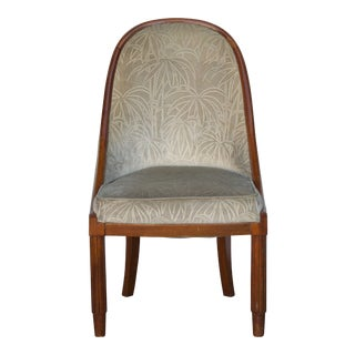 Chic French Art Deco Bergère in the Style of Émile-Jacques Ruhlmann For Sale