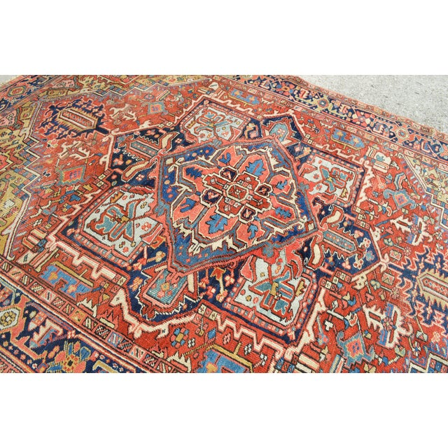 "Antique Persian Heriz Rug - 7'7"" X 10'11"" - Image 4 of 8"