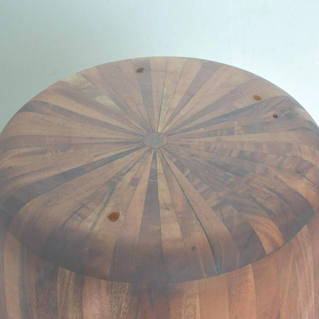 Contemporary Mexican Modernist Cedar Wood Pedestal Center Table For Sale - Image 3 of 8