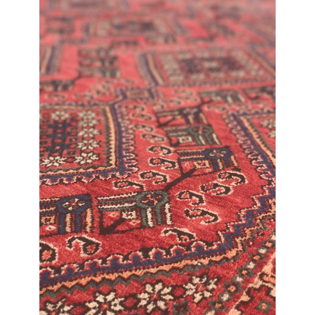 "Vintage Persian Yalameh Area Rug - 7'8"" x 9'7"" - Image 7 of 11"