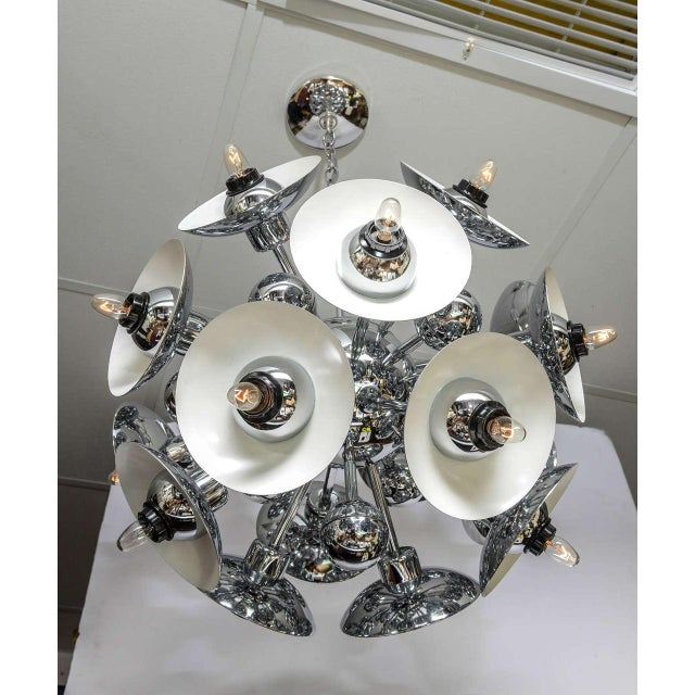 Eighteen-Light Chrome Sputnik Chandelier For Sale - Image 9 of 9