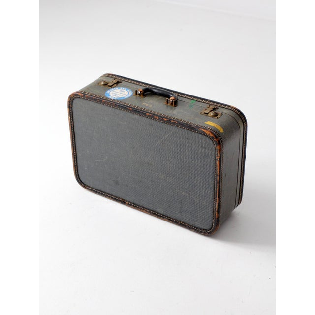 Vintage Suitcase With Travel Stickers - Image 4 of 7