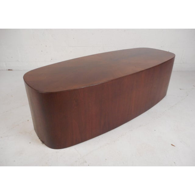 Mid-Century Modern Oval Coffee Table For Sale - Image 12 of 12