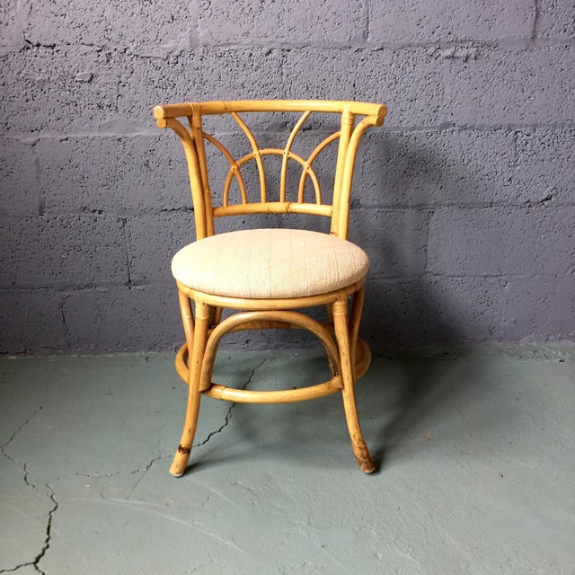 Vintage 1980s Bamboo Dining Set For Sale - Image 9 of 11