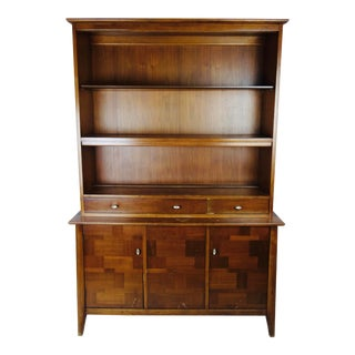 Mid-Century Wooden Display Cabinet For Sale