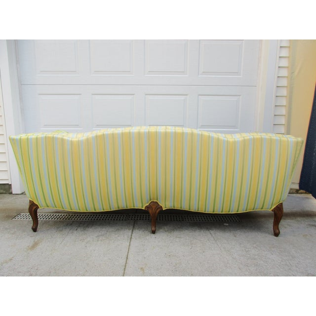 Vintage French Striped Sofa For Sale - Image 4 of 12