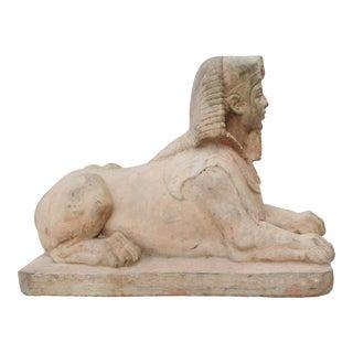 Vintage Sphinx Garden Statue For Sale