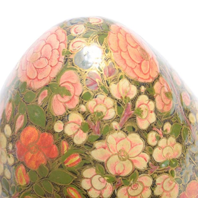 Kashmiri Standing Egg Shaped Box - Image 4 of 5