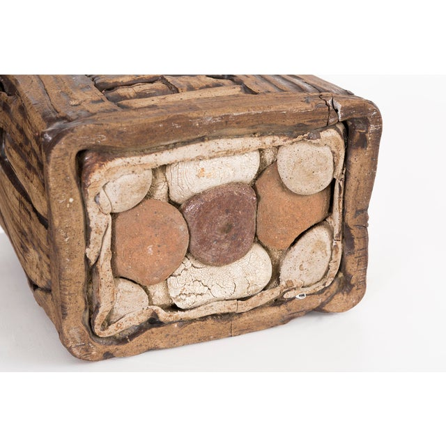 Brown Marilyn Levine Pottery Pillow Sculpture For Sale - Image 8 of 9